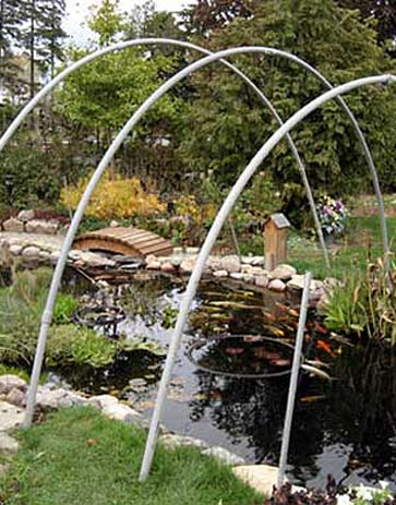winter pond cover arches