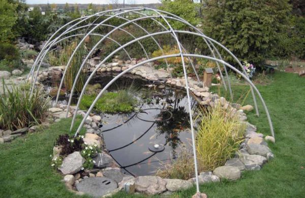 winter pond cover frame