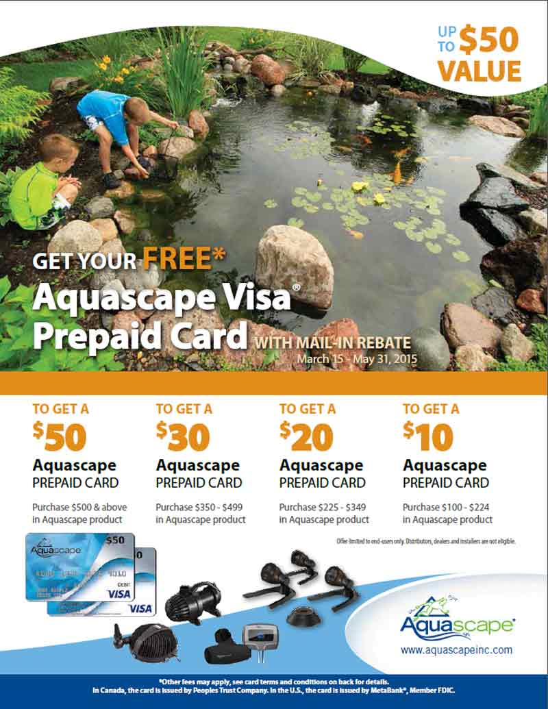 Aquascape Visa Prepaid Card