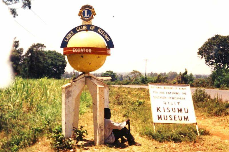 Kisumu Kenya at the equator