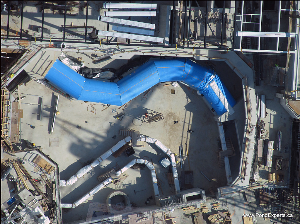 Ripley's Aquarium of Canada Construction View from CN Tower