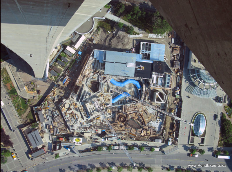 Ripley's aquarium construction view from CN Tower