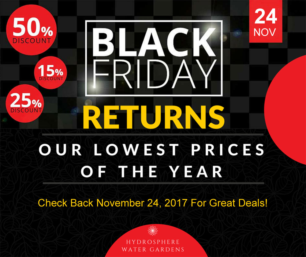 blach Friday deals on pond supplies 2017