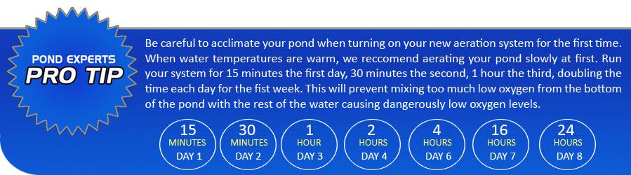 pro tip large pond aeration