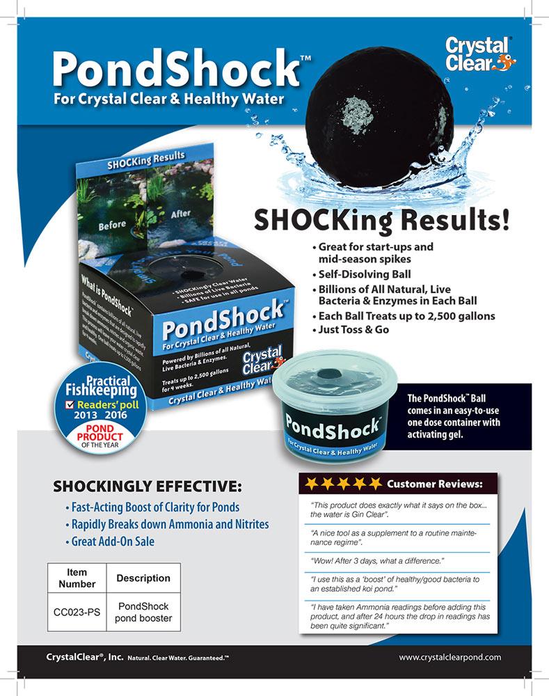 pond shock fact sheet