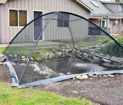 deluxe pond tent cover net