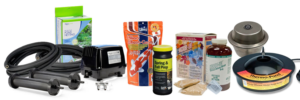 fall and winter pond products