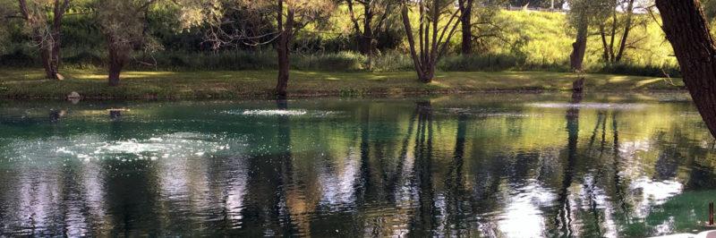 Large Pond Aeration System Installed