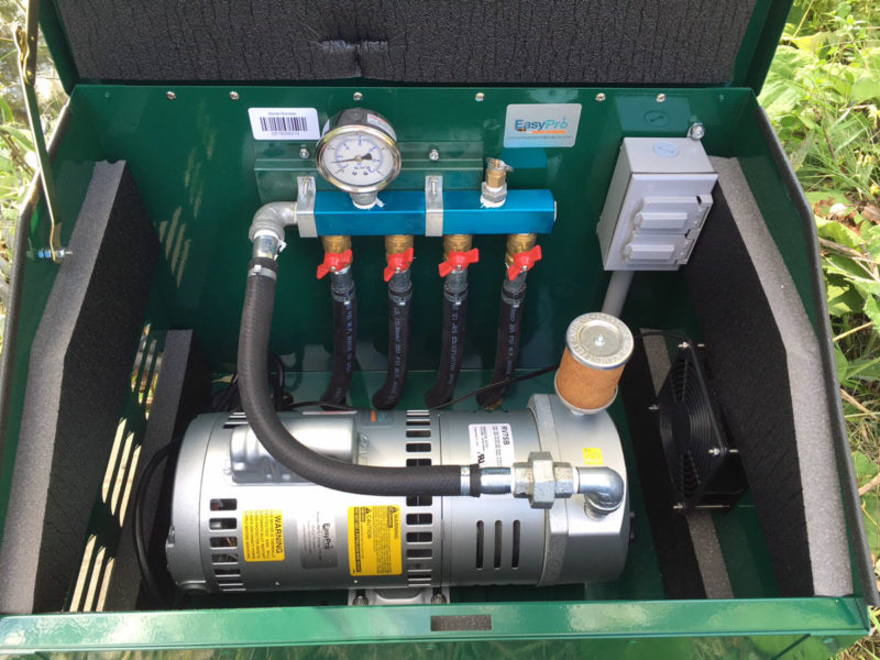 rotary vane aeration system cabinet